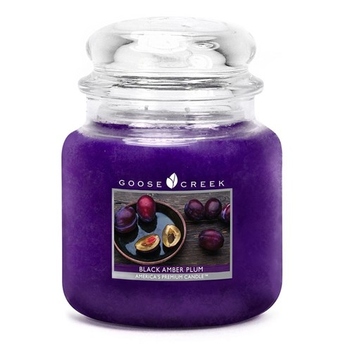 Black Amber Plum 16oz Scented Candle Jar