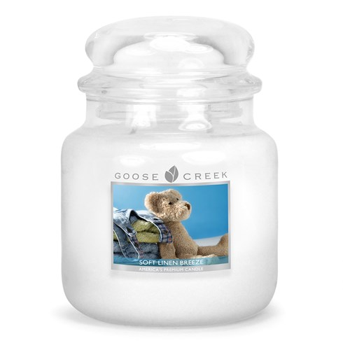 Soft Linen Breeze Scented Candle Jar