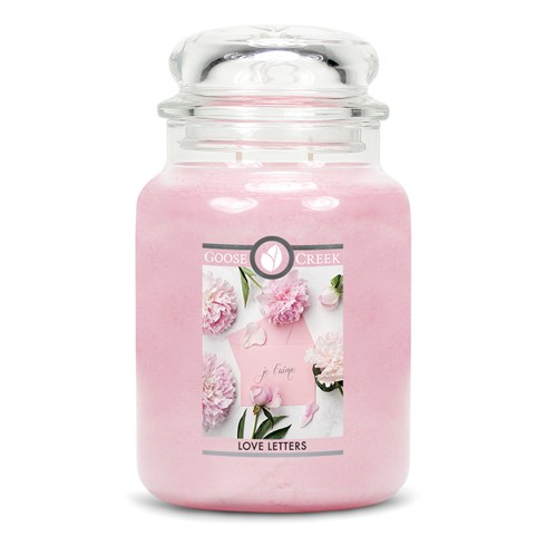 Love Letters Goose Creek Candle Jar