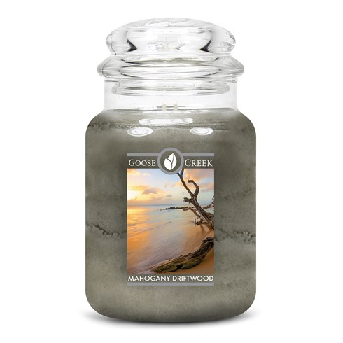 Mahogany Driftwood Goose Creek Scented Candle Jar