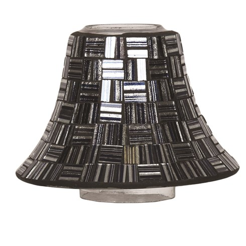Liquorice Squares Mosaic Candle Jar Lamp Shade