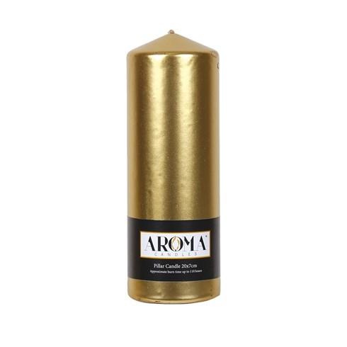 Metallic Gold Pillar Candle