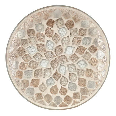 Candle Plate - Glitter Teardrop Mosaic