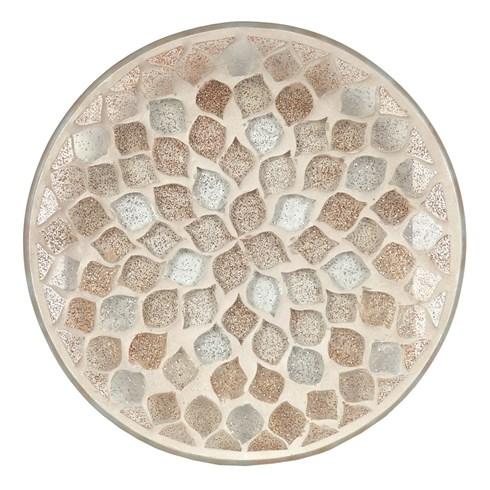 Glitter Teardrop Candle Plate