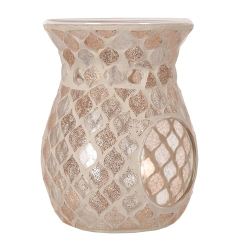 Wax Melt Burner - Glittered Teardrop Mosaic