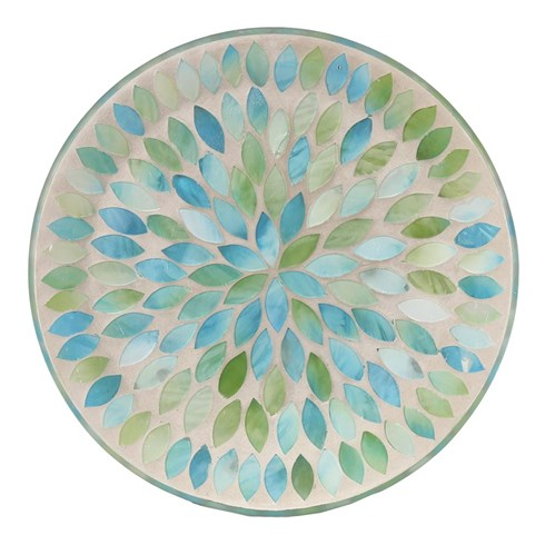 Candle Plate - Mint Petals
