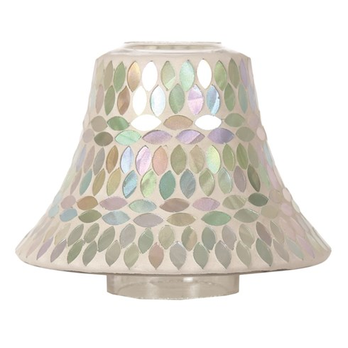 Candle Jar Lamp Shade - Aqua Pearl