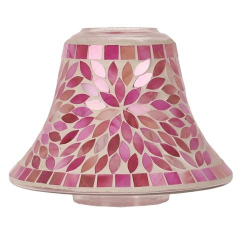 Candle Jar Lamp Shade - Pink Petals