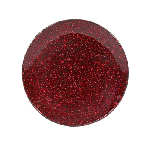 Metallic Red Candle Plate