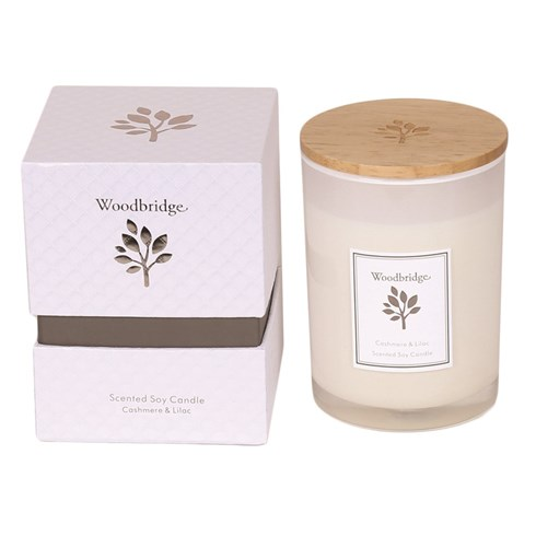 Cashmere & Lilac Medium Soy Candle