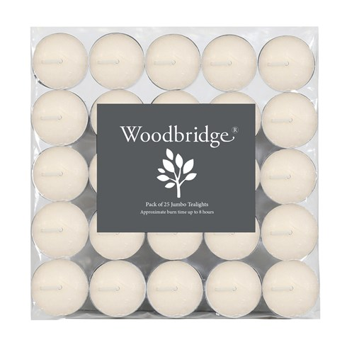 Woodbridge Tealights - Long Burn, Ivory