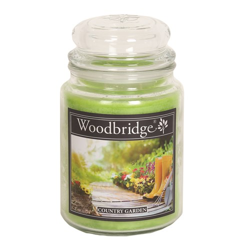 Country Garden Woodbridge Large Scented Candle Jar