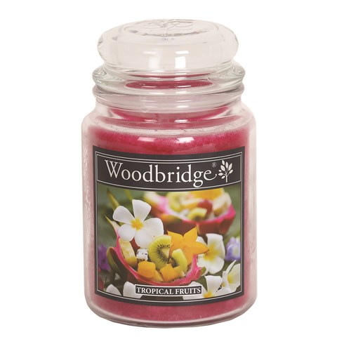 Tropical Fruits Woodbridge Large Scented Candle Jar