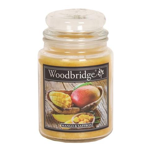 Mango & Saffron Woodbridge Large Scented Candle Jar