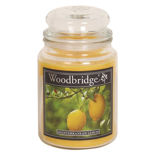 Mediterranean Lemon Woodbridge Large Scented Candle Jar