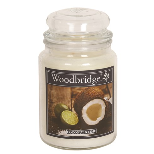 Coconut & Lime Woodbridge Large Scented Candle Jar