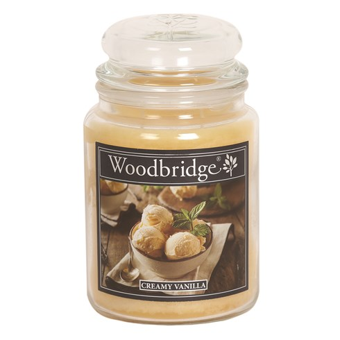Creamy Vanilla Woodbridge Large Scented Candle Jar