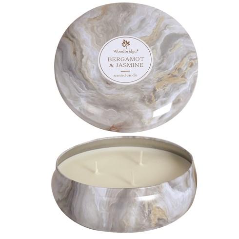 Bergamot & Jasmine - Marble Candle Tin