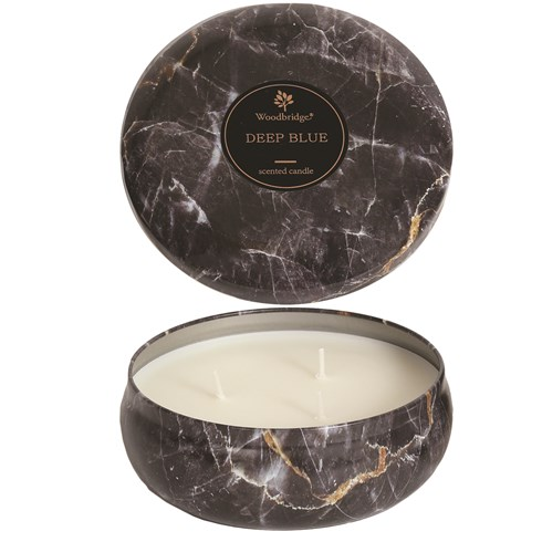 Deep Blue - Marble Candle Tin