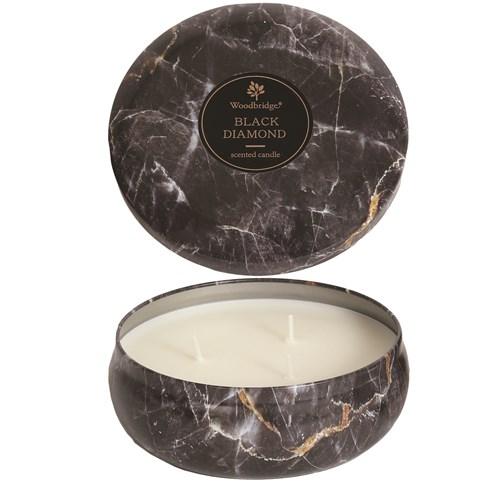 Black Diamond - Marble Candle Tin