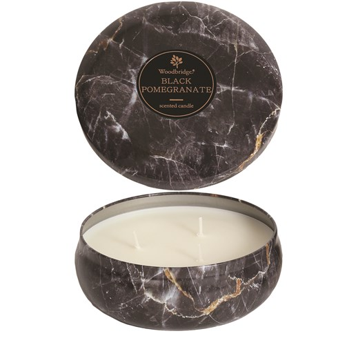 Black Pomegranate - Marble Candle Tin