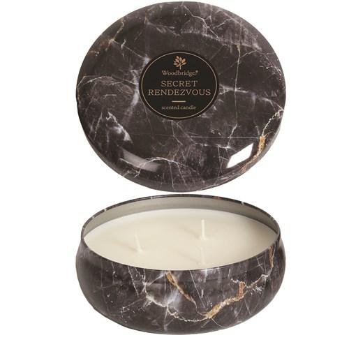 Secret Rendezvous -  Marble Candle Tin