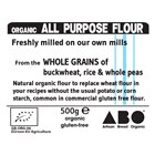 Freshly Milled Organic Gluten-Free All Purpose Plain Flour 500g