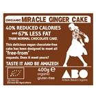 Organic Gluten-Free Vegan Miracle Ginger Cake 400g