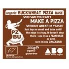 Organic Gluten-Free Buckwheat Pizza Base in a Freezer Pack of 5