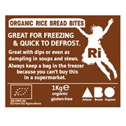 Organic Gluten-Free Rice Bread Bites