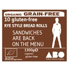 Organic Gluten-Free Rye Style Rolls Large (Buckwheat) Bag of 10