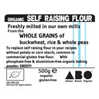 Freshly Milled Organic Self Raising Flour 500g