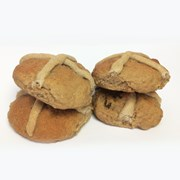 Organic Hot Cross Buns Bag of 4 (Seasonal)