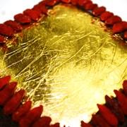 Organic Gluten-Free Luxury Vegan 23 Carat Gold Miracle Cake 380g   XMAS Miracle Gold