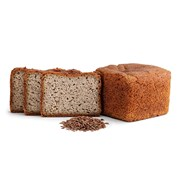 Organic Gluten-Free Linseed Omega Bread - Longer Life Bread 375g | Linseed 375g Loaf Longer Life