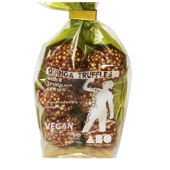 Organic Quinoa Truffles with Spirulina Bag of 6 (90g)