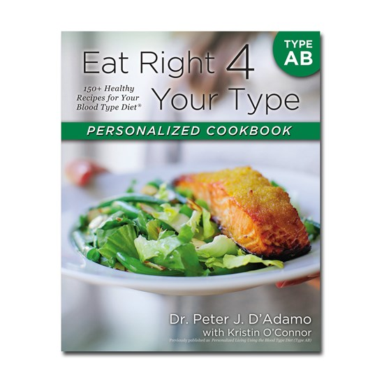 Dr. D'Adamo Personalised Cookbook For Type AB