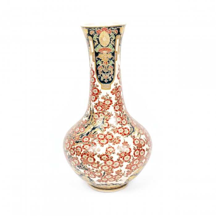 Vas Din Ceramică Glazurată Satsuma Yaki Decorat Cu Motivul