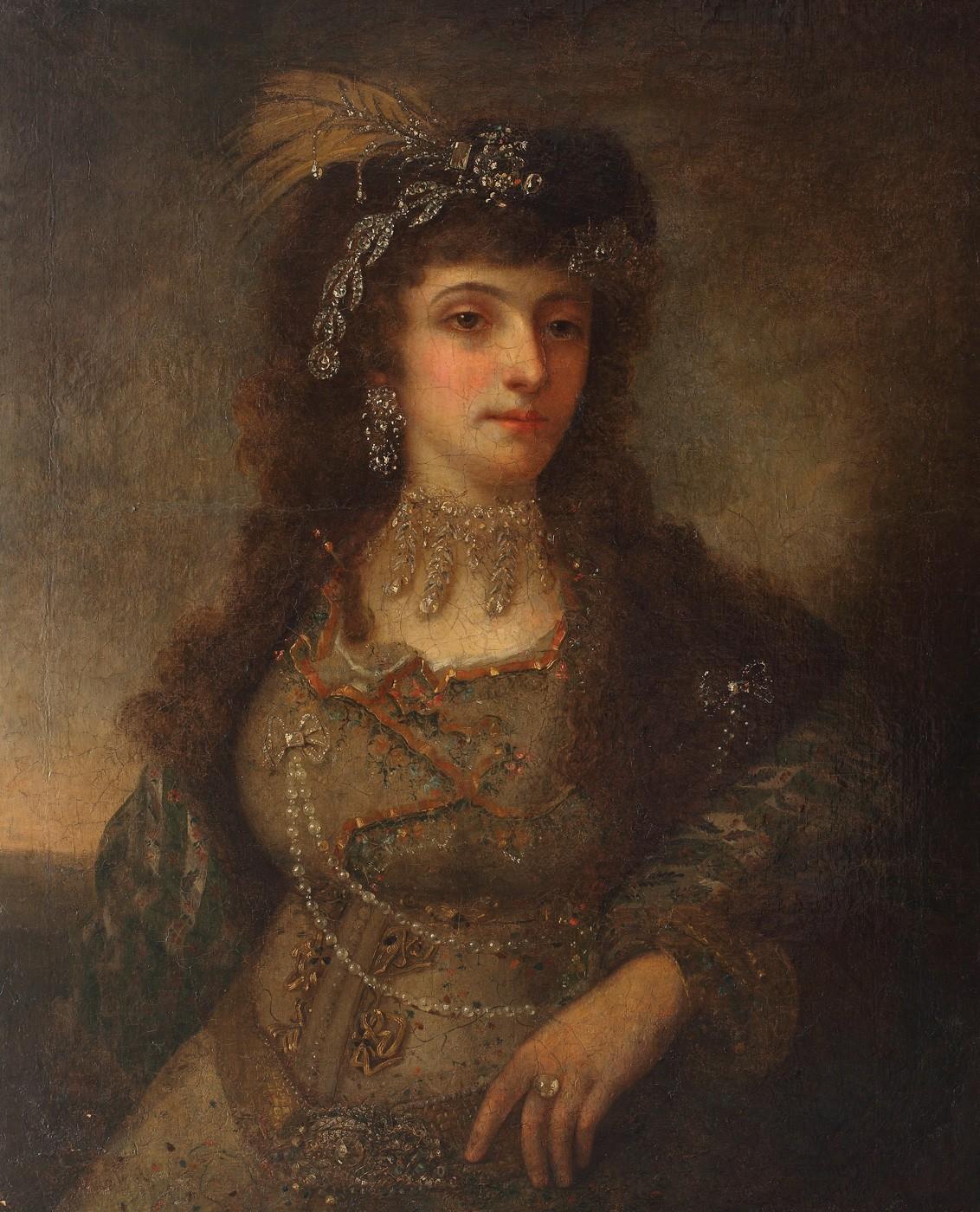 Imagini pentru Mihail Töpler, Portretul Saftei Ipsilanti, soția lui Constantin Vodă Ipsilanti