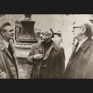 Fotografie originală cu Emil Cioran, Eugen Ionescu și Mircea Eliade, transformată în anii recenți în afiș