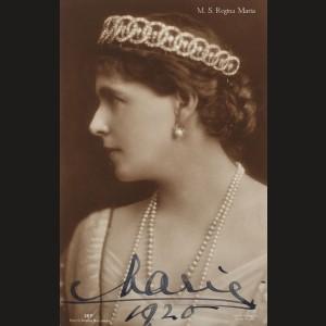 Fotografie a Reginei Maria, purtând semnătura olografă, 1925