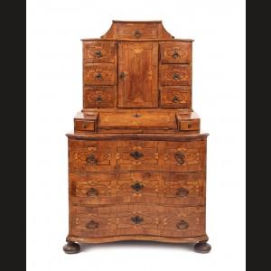 Impunătoare comodă secretaire, în stil Baroc regional, sfârșitul sec. XVIII