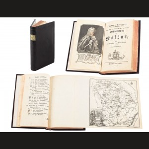"Dimitrie Cantemir, ""Beschreibung der Moldau"" (Descrierea Moldovei), prima ediție, include harta Moldovei, Leipzig, 1771; raritate extremă"