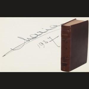 'Poesii' de Mihai Eminescu, 1933, cu autograful Reginei Maria