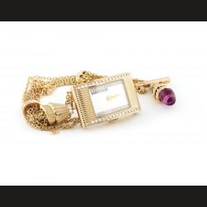 Ceas Boucheron, de mână, de damă, din aur, cu diamante și ametist