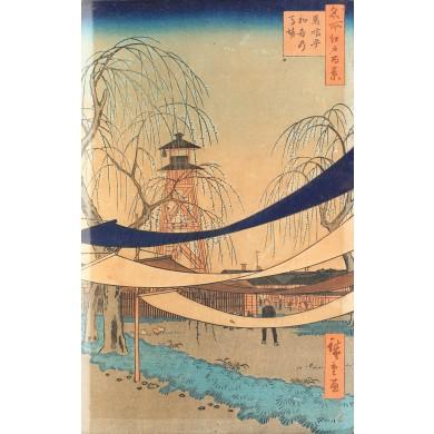 """Traseul de echitaţie Hatsune (seria """"O sută de vederi celebre din Edo"""")"""