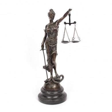 Statuetă decorativă, reprezentând Justiția, pentru birou