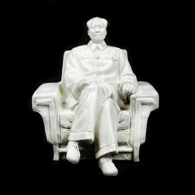Statuetă din porțelan, reprezentându-l pe Mao Zedong, perioada Revoluției Culturale, China, cca. 1970