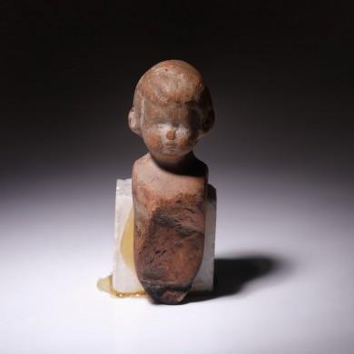 Jucărie din teracotă, epocă romană, sec. I-II, provine din colecția dr. Horia Slobozianu