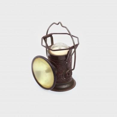 Lanternă bi-direcțională pentru lucrătorii de cale ferată, perioada interbelică
